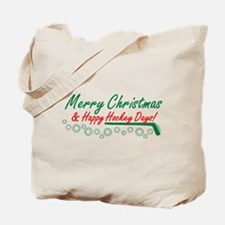 Christmas hockey days Tote Bag