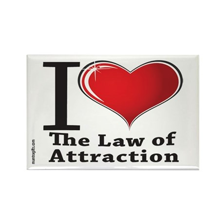 Love the Law of Attraction Rectangle Magnet (10 pa