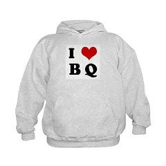 I Love B Q Hoodie