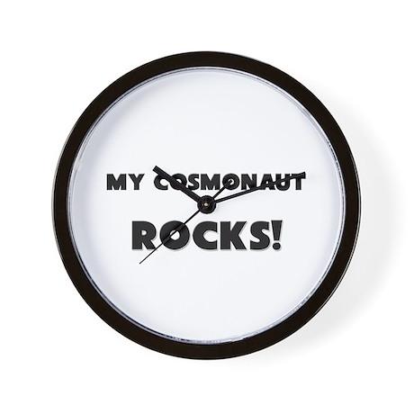 MY Cosmonaut ROCKS! Wall Clock