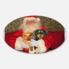 Kids With Santa Oval Decal