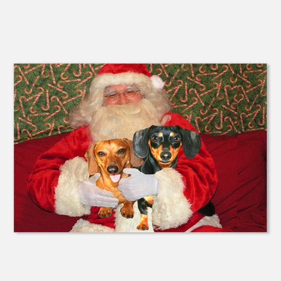 Kids With Santa Postcards (Package of 8)