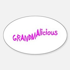 GRAMDAlicious Oval Decal
