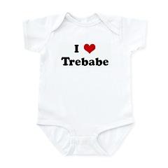 I Love Trebabe Infant Bodysuit