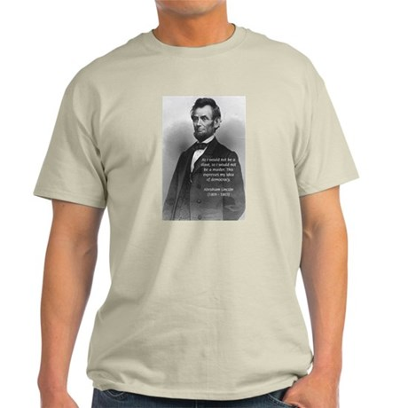 President Abraham Lincoln Ash Grey T-Shirt