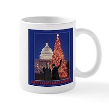 Obama Merry Christmas America small Mug