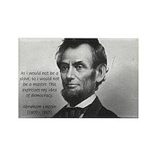 President Abraham Lincoln Rectangle Magnet