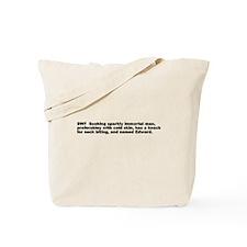 TWILIGHT MOVIE EDWARD CULLEN Tote Bag