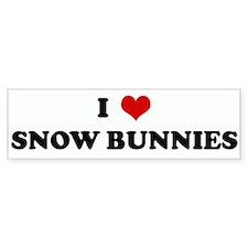 I Love SNOW BUNNIES Bumper Bumper Sticker