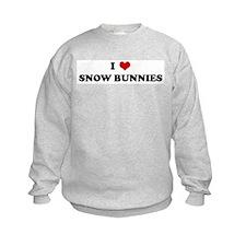 I Love SNOW BUNNIES Sweatshirt