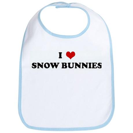 I Love SNOW BUNNIES Bib