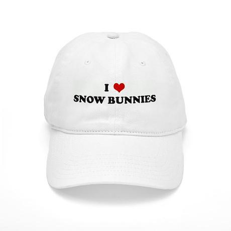 I Love SNOW BUNNIES Cap