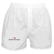 I Love SNOW BUNNIES Boxer Shorts