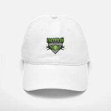 Fastpitch Home Plate Green Baseball Baseball Cap