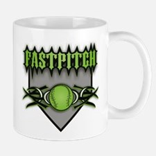 Fastpitch Home Plate Green Mug