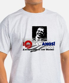 Latinos Unidos con Obama T-Shirt