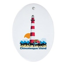 Chincoteague Island VA Oval Ornament