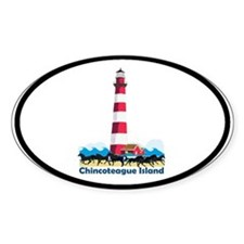 Chincoteague Island VA Oval Decal