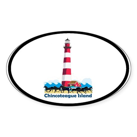 Chincoteague Island VA Oval Sticker