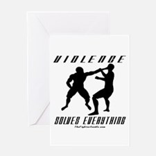 Violence Solves Everything w/ Greeting Card