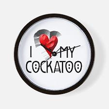 I Love My Cockatoo Wall Clock