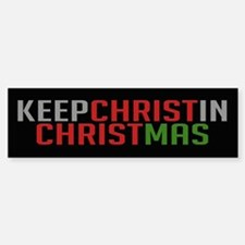 Bumper Sticker Keep Christ in Christmas