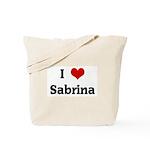 I Love Sabrina Tote Bag