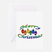 merry christmas balls Greeting Card