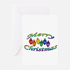 merry christmas balls Greeting Cards (Pk of 10)