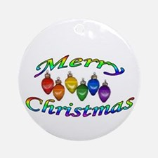 merry christmas balls Ornament (Round)
