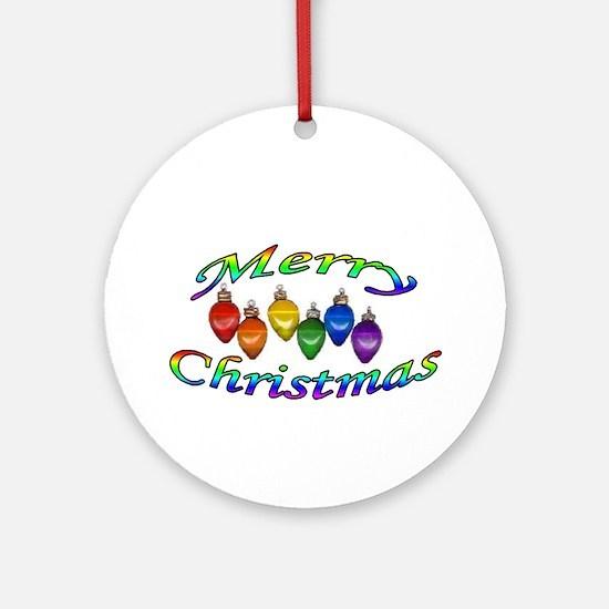 merry christmas balls Ornament (Round)