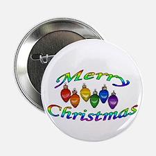 """merry christmas balls 2.25"""" Button"""
