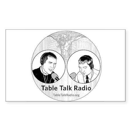 Table Talk Radio Rectangle Sticker