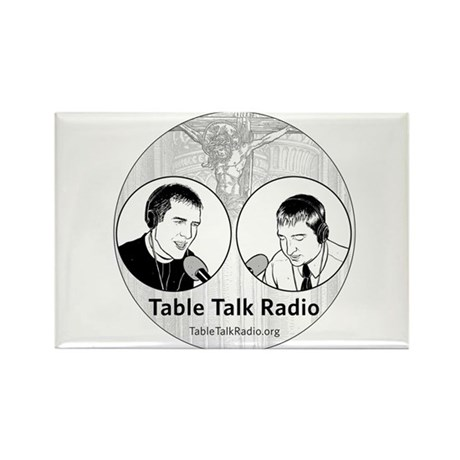 Table Talk Radio Rectangle Magnet