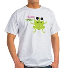 "Cute Frog & ""Think Green"" T-Shirt"