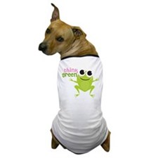"Cute Frog & ""Think Green"" Dog T-Shirt"