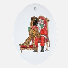 NBr I Been Good Oval Ornament