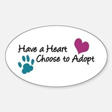 Have a Heart Oval Decal