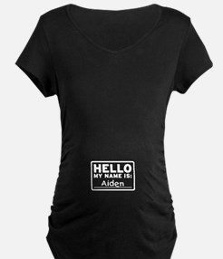 Hello My Name Is: Aiden - Maternity Shirt