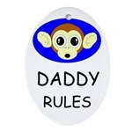 DADDY RULES Keepsake (Oval)