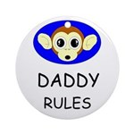 DADDY RULES Keepsake (Round)