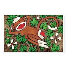 Ivy Sock Monkey Rectangle Decal