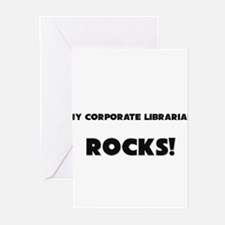 MY Corporate Librarian ROCKS! Greeting Cards (Pk o