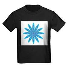 Purple and Blue Flower T