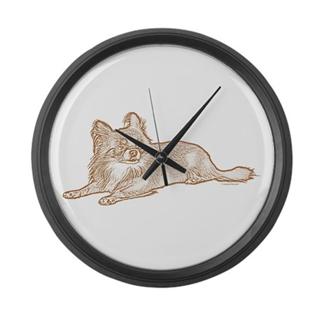 Chihuahua (sketch) Large Wall Clock