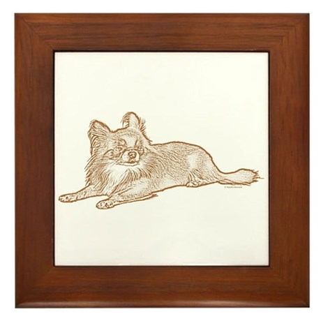 Chihuahua (sketch) Framed Tile