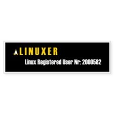 Linux Registered user Bumper Bumper Sticker