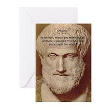 Greek Philosophers: Aristotle Greeting Cards (Pack