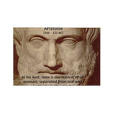 Greek Philosophers: Aristotle Rectangle Magnet