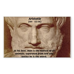 Greek Philosophers: Aristotle Sticker (Rectangular